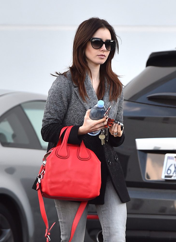 Lily-Collins-Givenchy-Nightingale-Bag