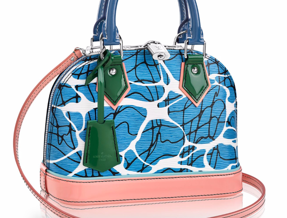 Louis Vuitton Aqua Print Epi Alma BB