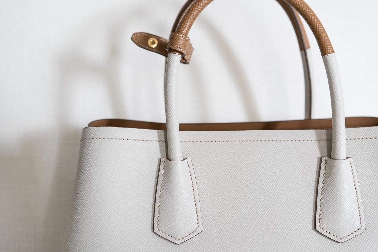 70d9f49db2b6 A Close Look at the Prada Bicolor Double Bag - PurseBlog