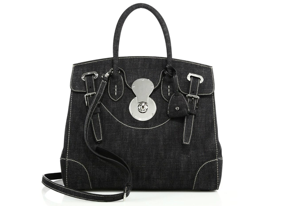 Ralph Lauren Ricky 33 Denim Satchel