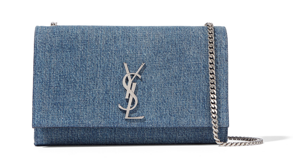 Saint Laurent Monogramme Medium Denim Shoulder Bag