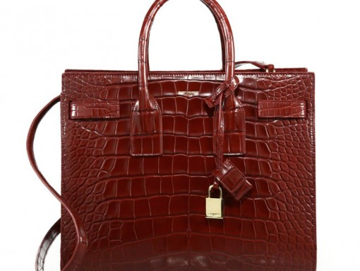 Saint-Laurent-Sac-de-Jour-Small-Alligator-Tote