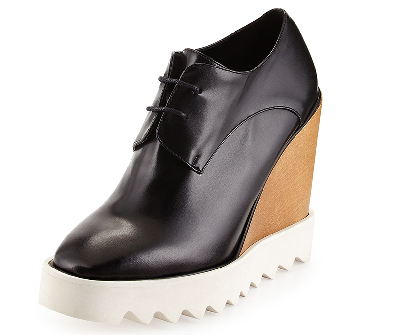 Stella McCartney Faux-Leather Wedge Oxford