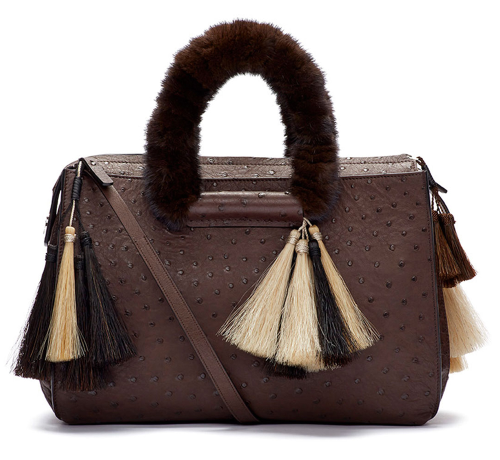 The-Row-Classic-5-Ostrich-and-Mink-Tote