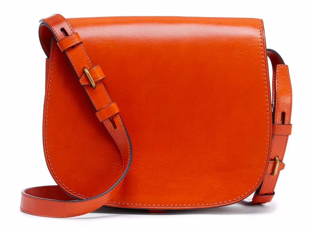 Tory Burch Leather Saddle Bag