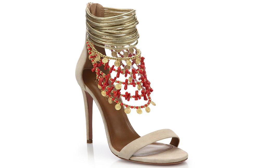 Aquazzura Queen of the Nile Embellished Sandals