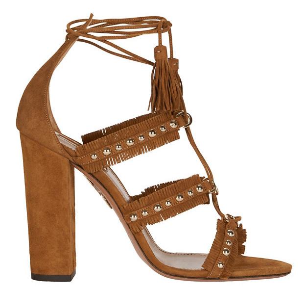 Aquazzura Tulum Grommet Lace-Up Sandal