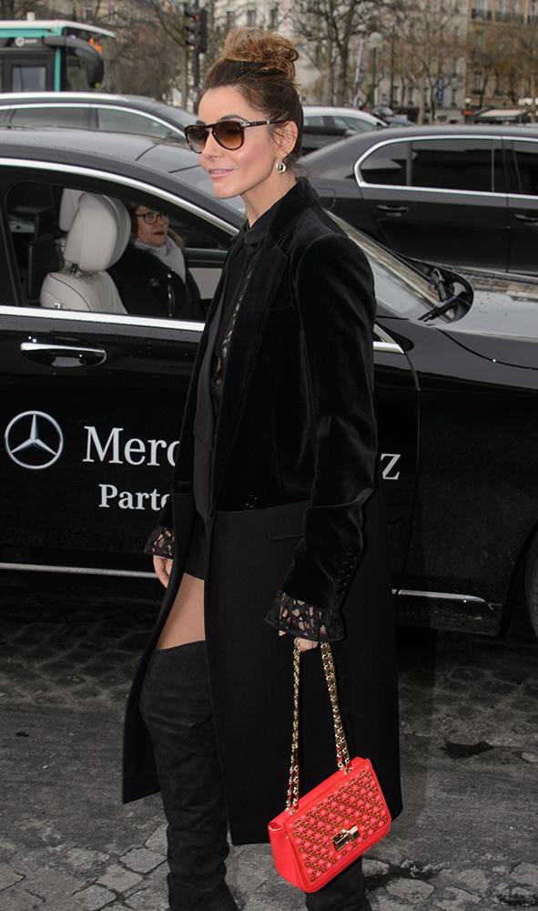Clotilde-Courau-Elie-Saab-Flap-Shoulder-Bag