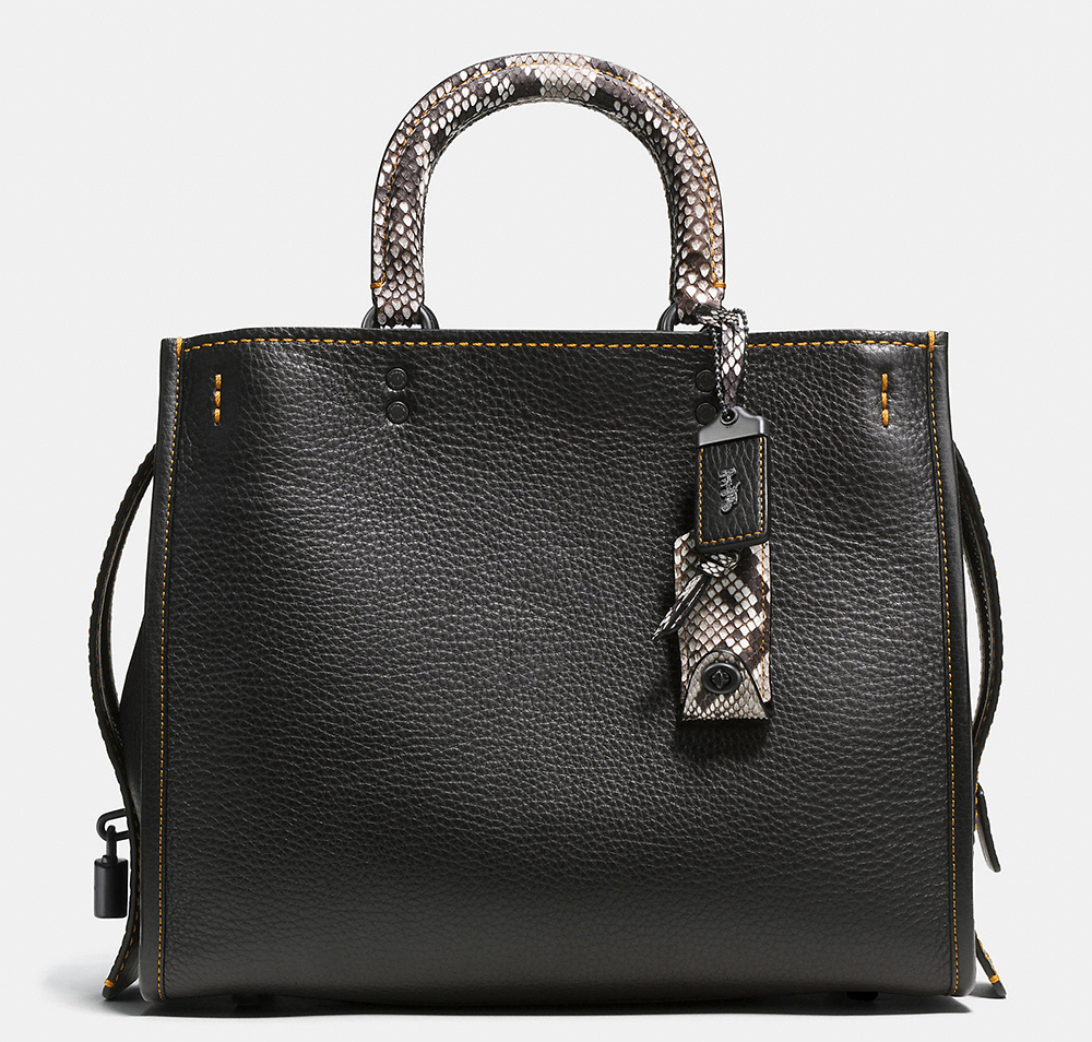 Coach-Rogue-Bag-Black-Python