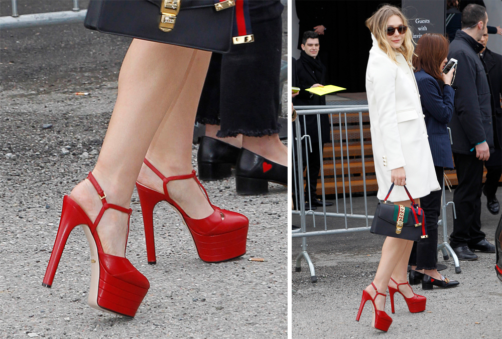 Elizabeth-Olsen-Gucci-Leather-Platform-Pumps
