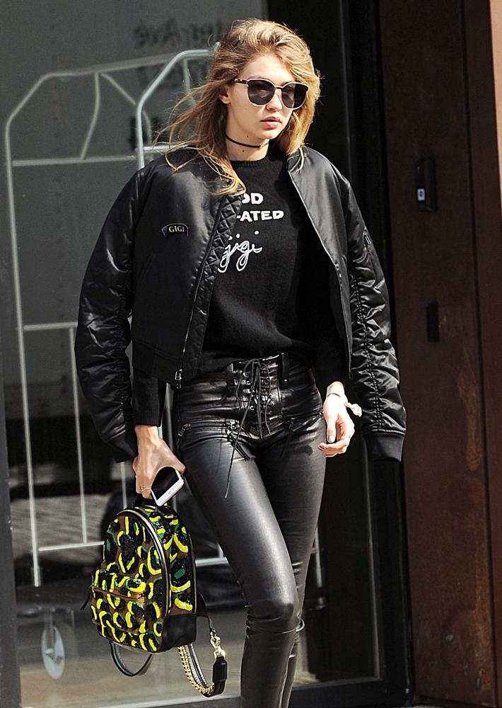 Gigi-Hadid-Versace-Medusa-Backpack