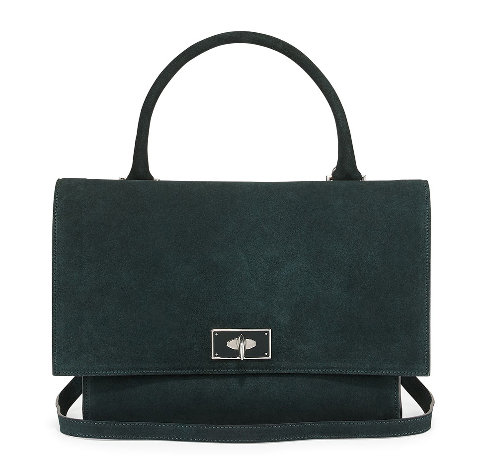 Givenchy-Suede-Shark-Satchel