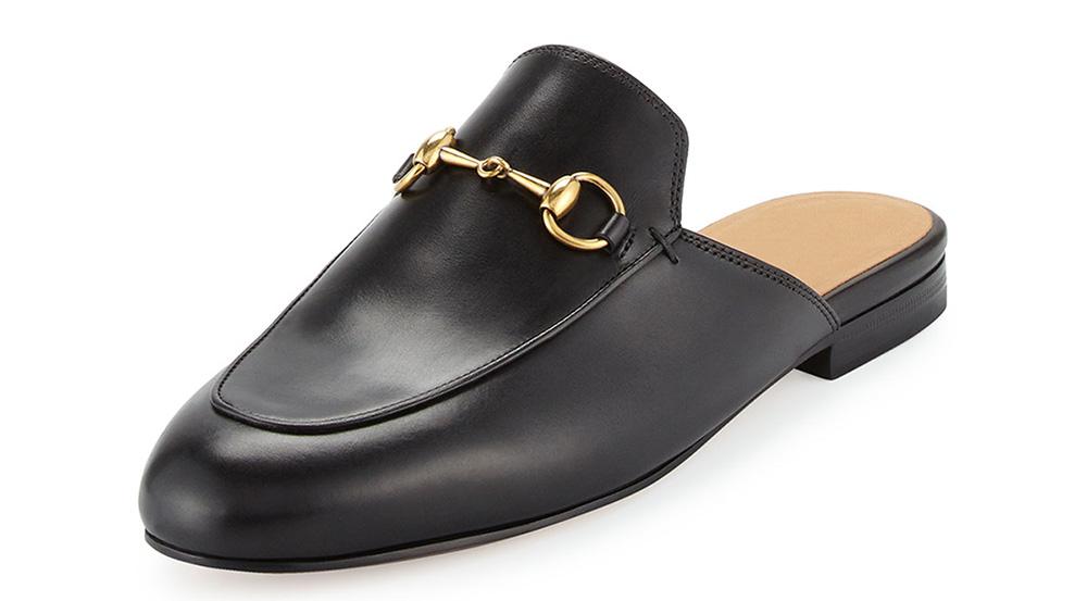 Gucci Princetown Leather Horsebit Mule Slipper
