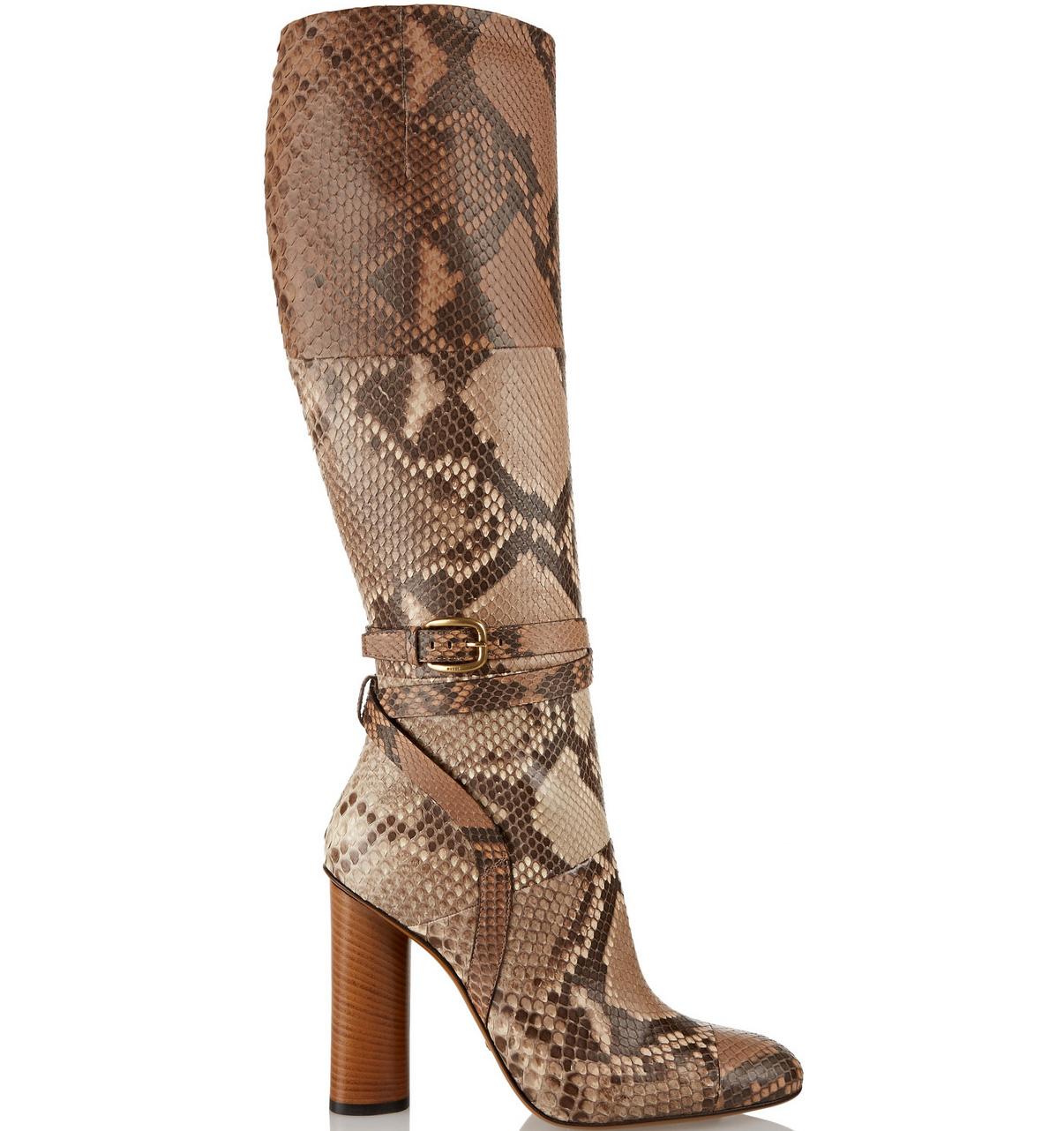 Gucci Python Knee Boots