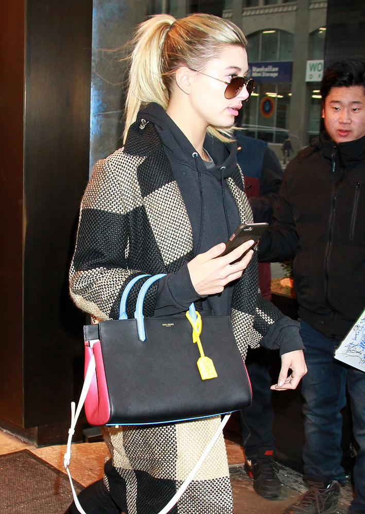 Hailey-Baldwin-Saint-Laurent-Small-Cabas-Rive-Gauche-Tote