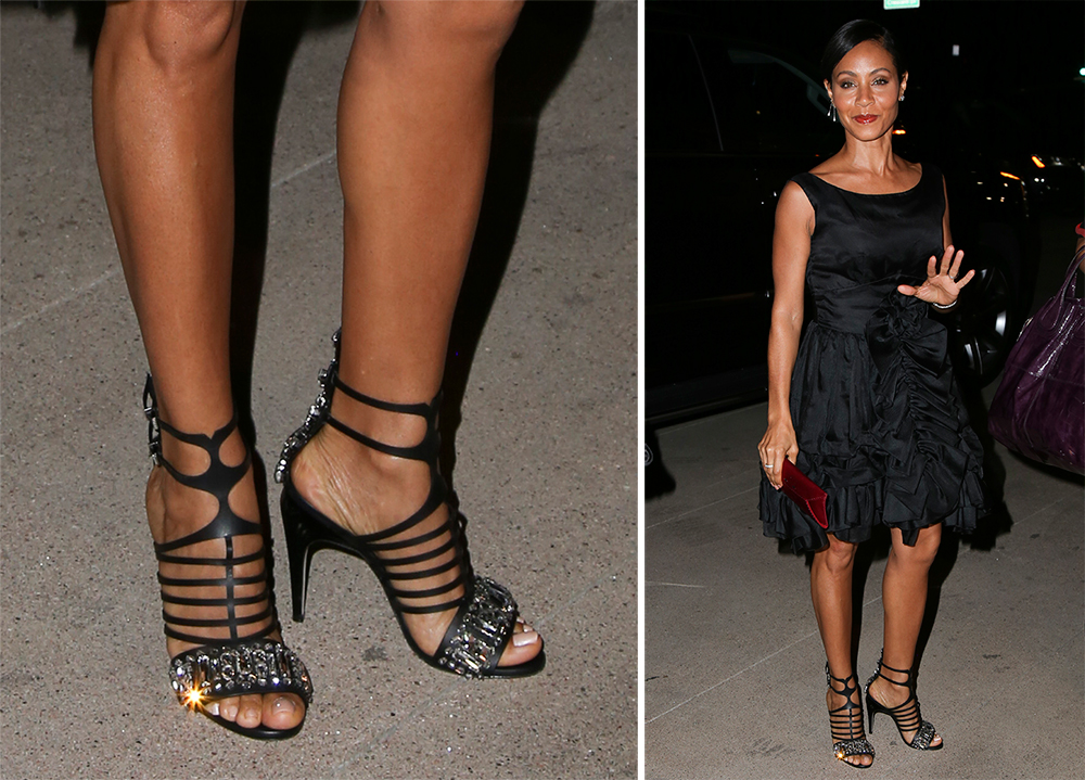 Jada-Pinkett-Smith-Fendi-Encaged-Sandals