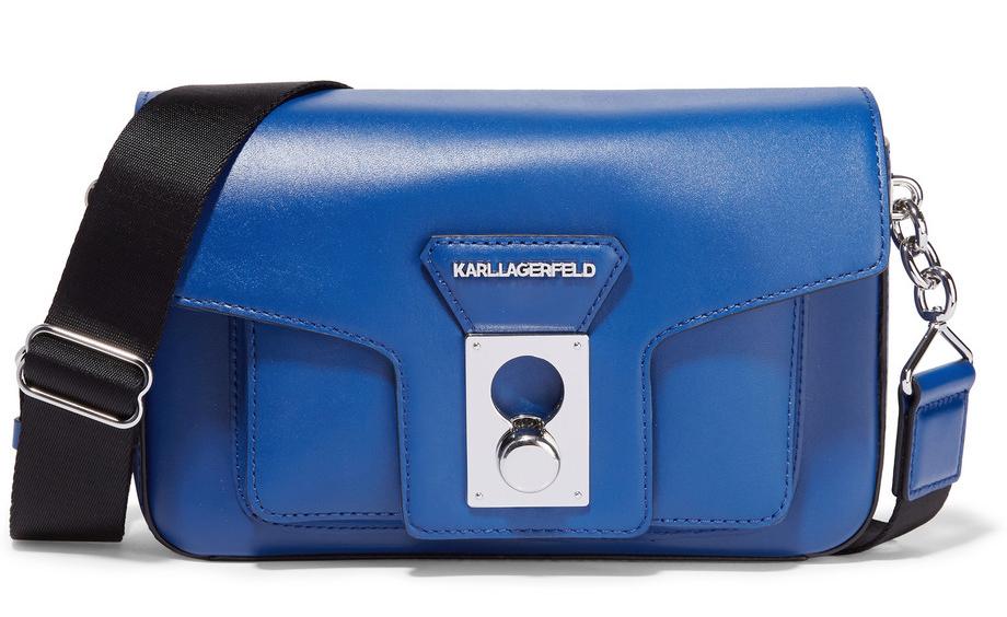 Karl-Lagerfeld-Leather-Shoulder-Bag