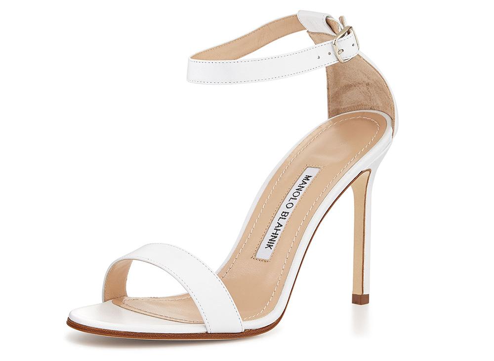 Manolo Blahnik Chaos Leather Ankle-Strap Sandal
