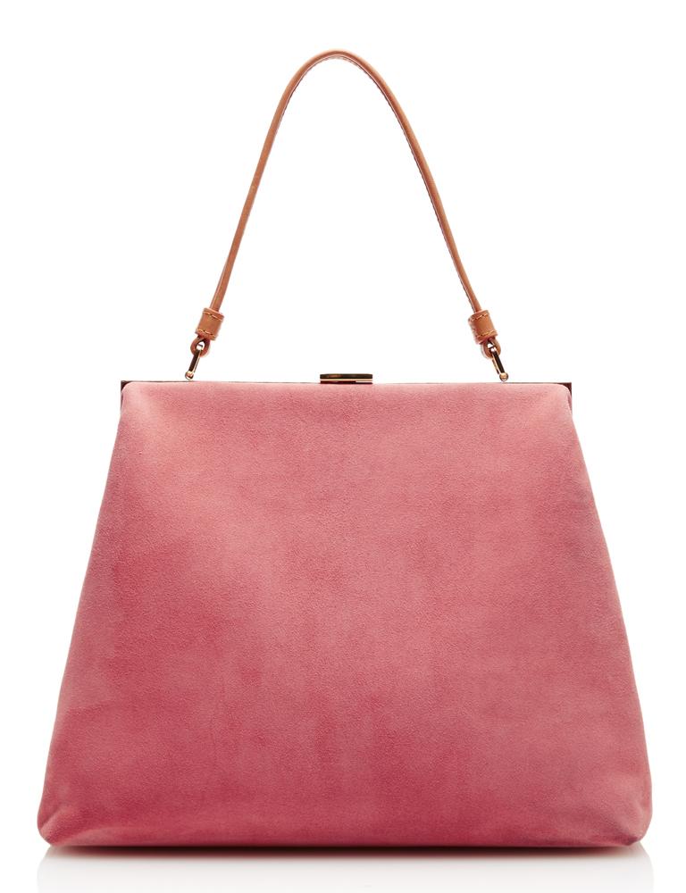 Mansur-Gavriel-Elegant-Bag-Pink-Suede