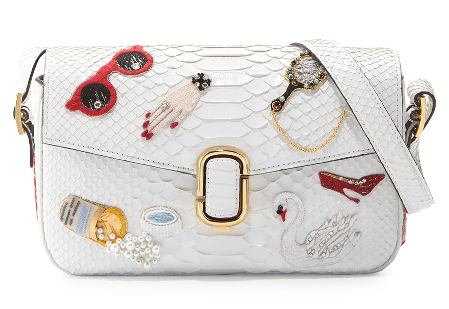 Marc Jacobs J Embroidered Python Shoulder Bag 5 500 Via Neiman Marcus