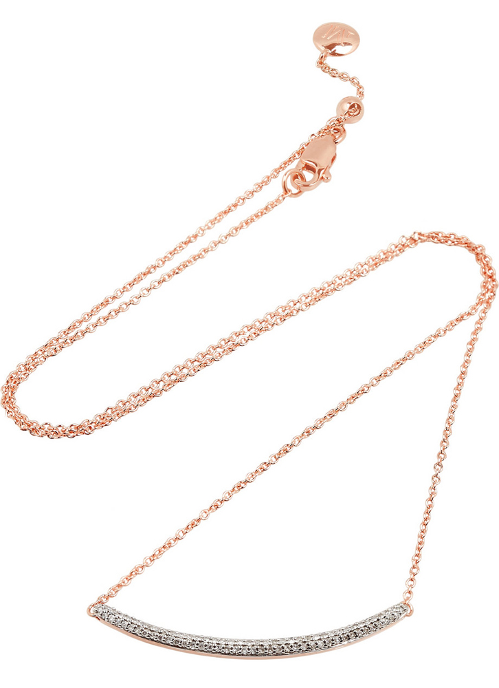 Monica-Vinader-Skinny-Curve-Rose-Gold-Plated-Diamond-Necklace