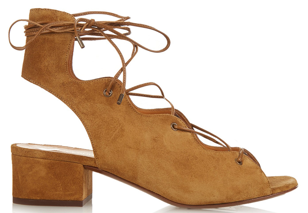 Saint Laurent Lace-Up Suede Sandals - PurseBlog ce7e5c96ab15