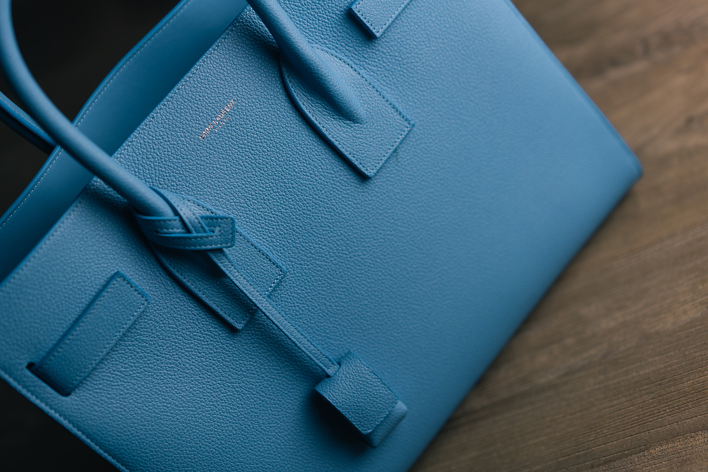 Saint Laurent Sac de Jour Light Blue (2)