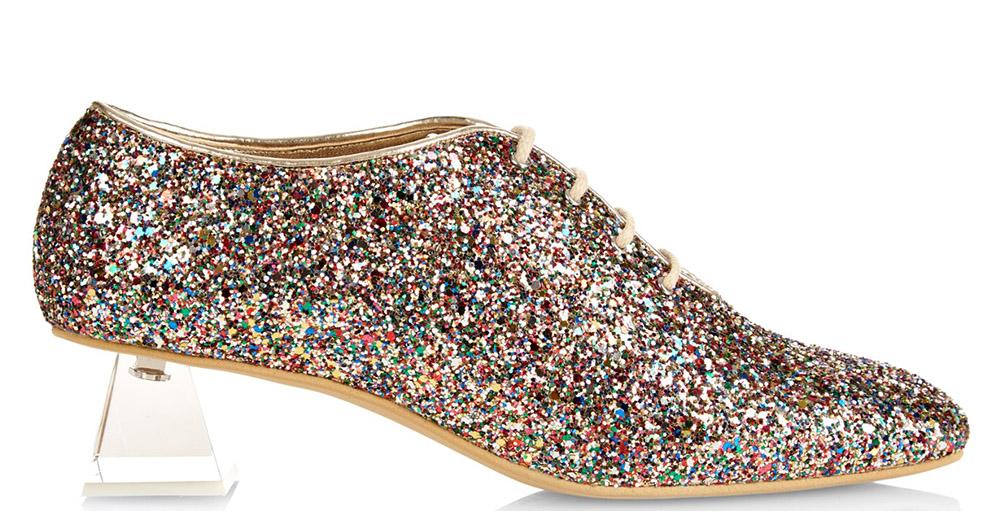 Stella McCartney Glitter Lace-Up Shoes