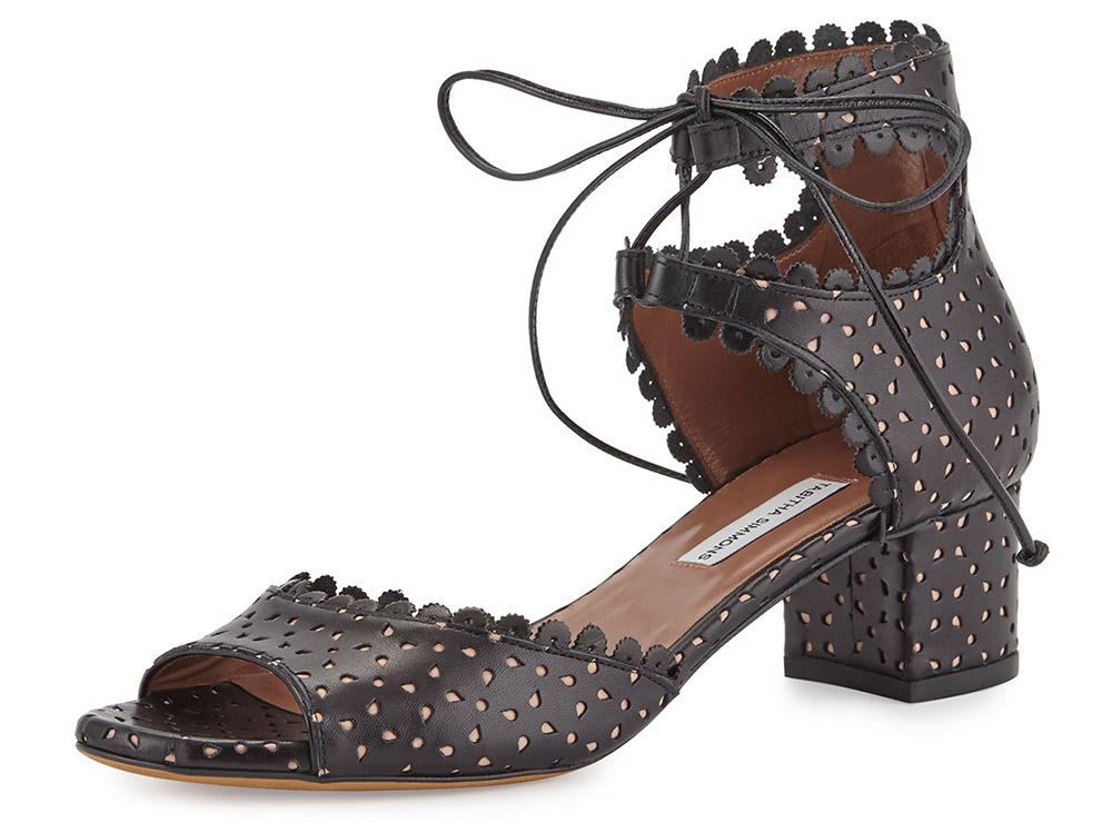 Tabitha Simmons Tallulah Eyelet Leather Sandal
