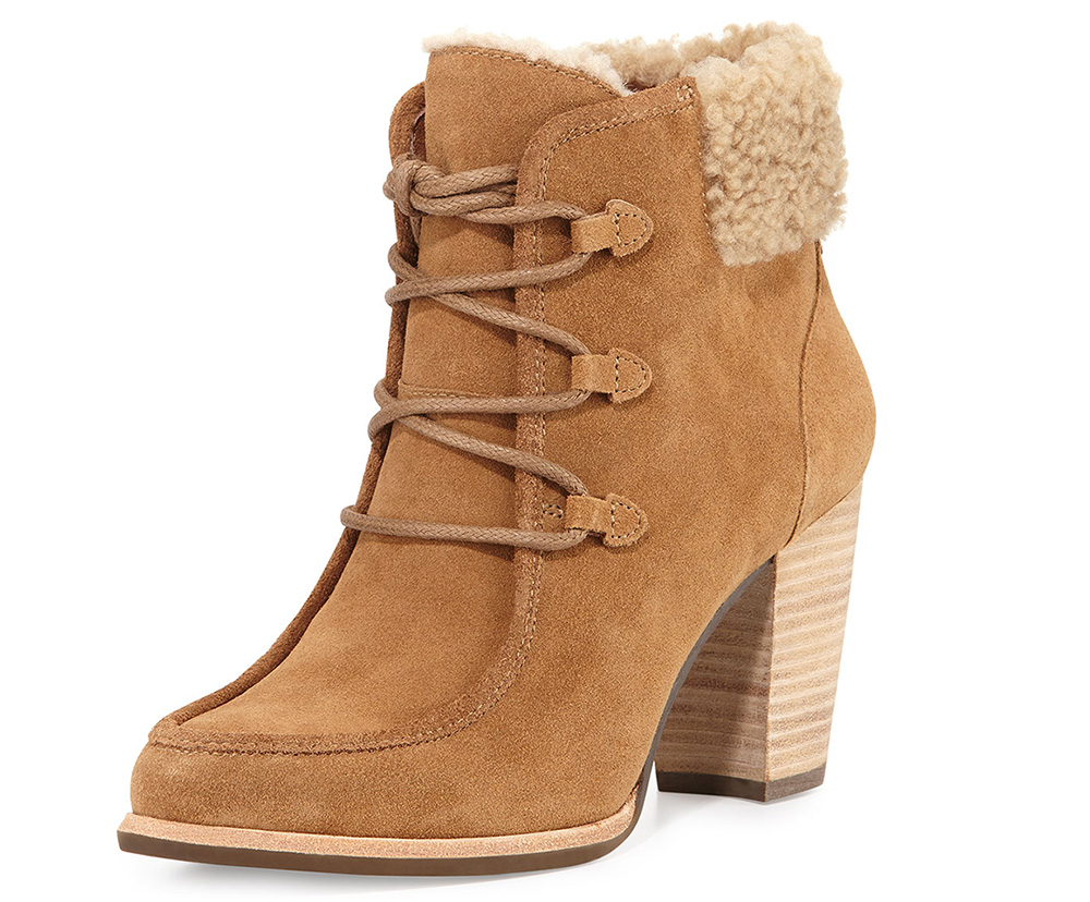 UGG Analise Lace-Up Ankle Bootie