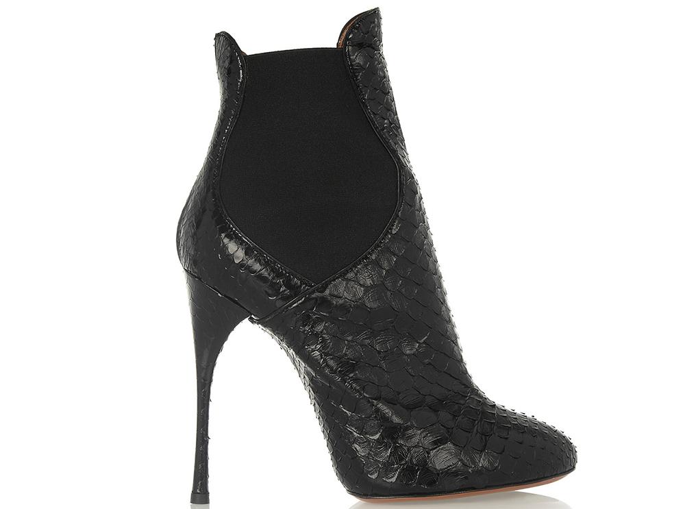 Alaia Python Ankle Boots