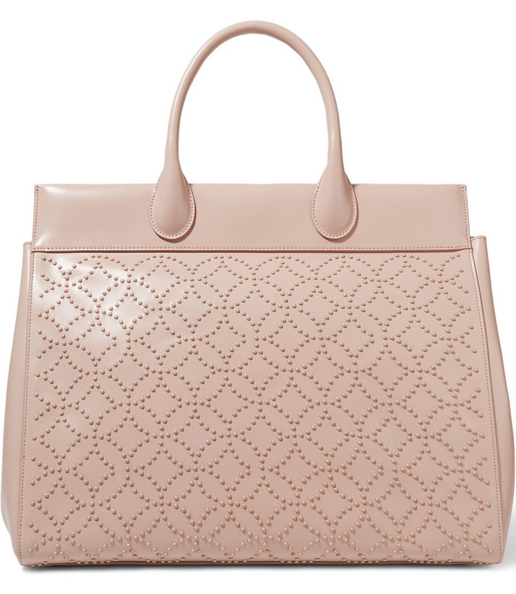 Alaia-Studded-Leather-Tote