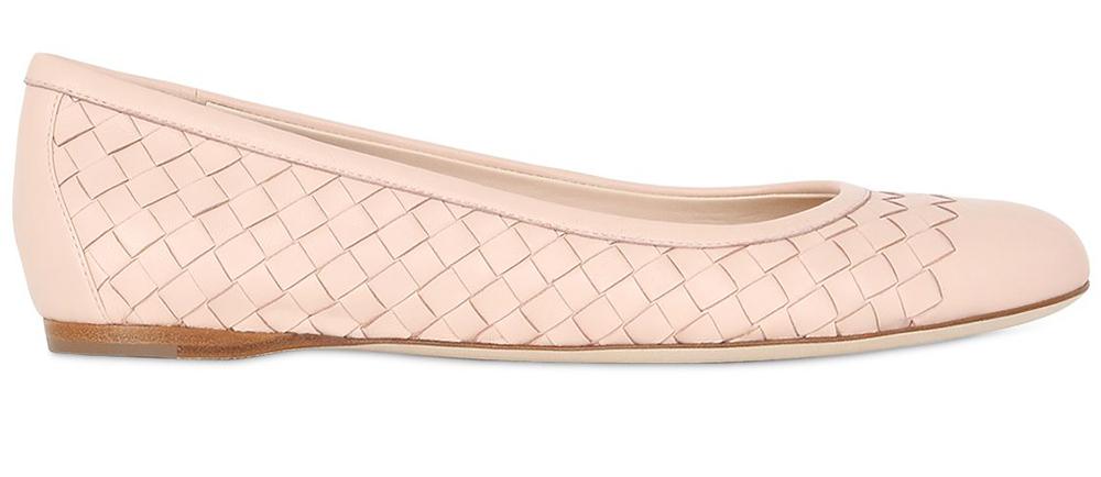 Bottega Veneta Intrecciato Nappa Leather Flats
