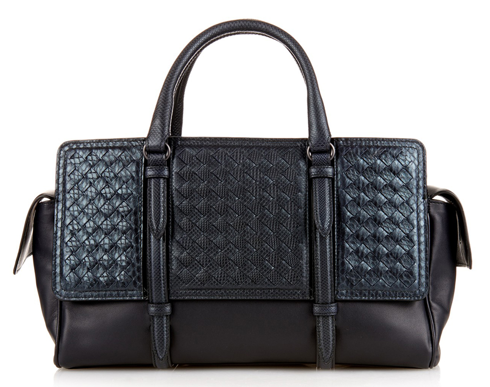 Bottega-Veneta-Monaco-Intrecciato-Leather-and-Python-Bag