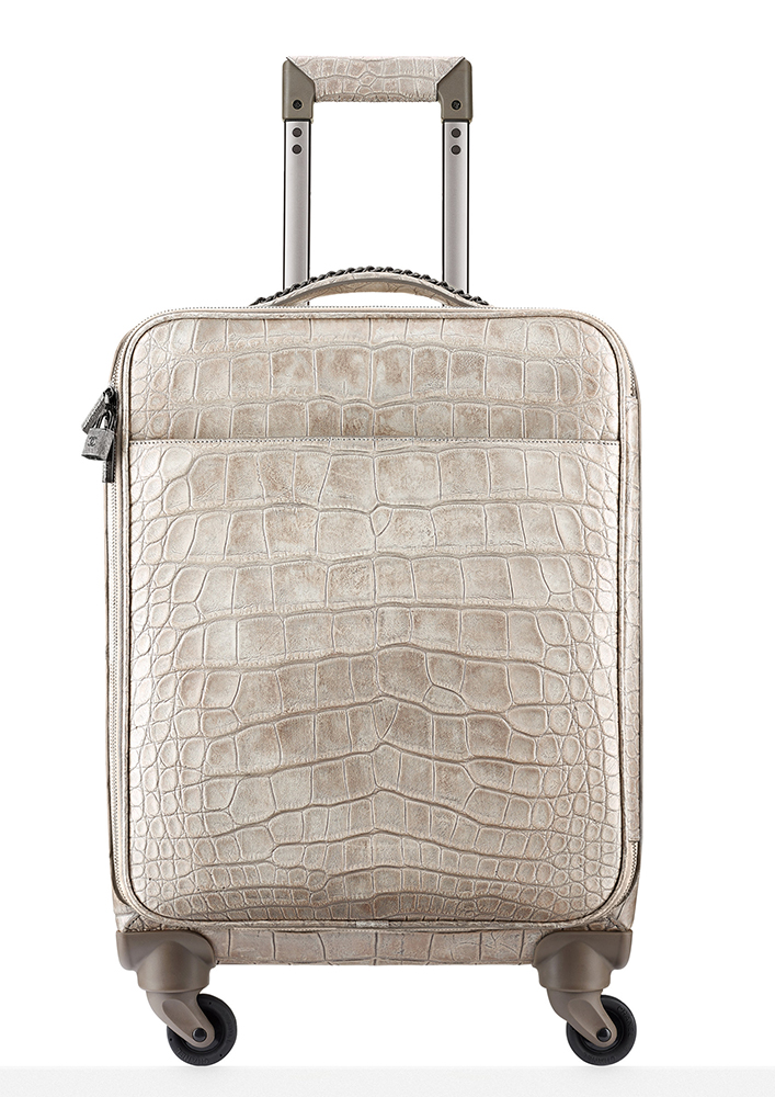 Chanel Alligator Trolley Rolling Suitcase