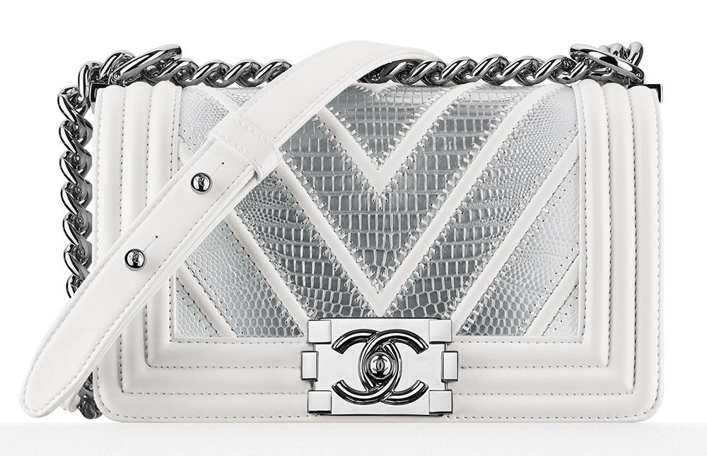 Chanel-Lizard-Chevron-Small-Boy-Bag-White