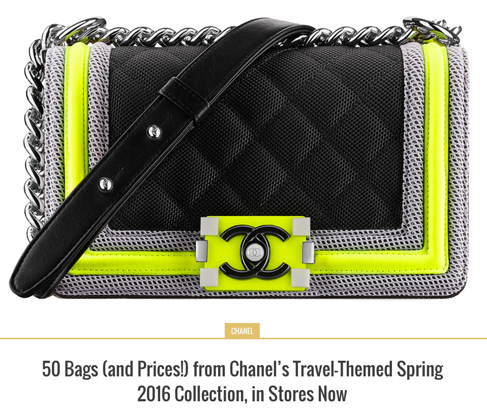 19a3e0937212 50 Bags (and Prices!) from Chanel's Travel-Themed Spring 2016 Collection,  in Stores Now