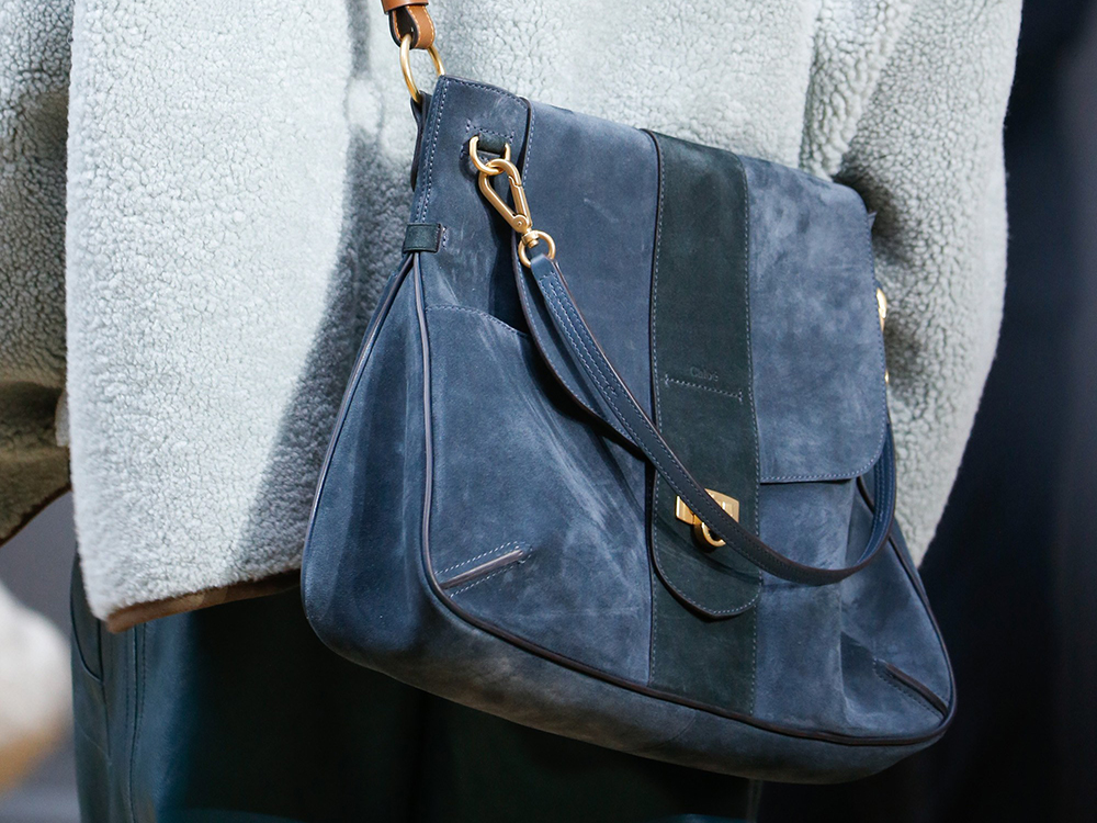 chloe purse in teal