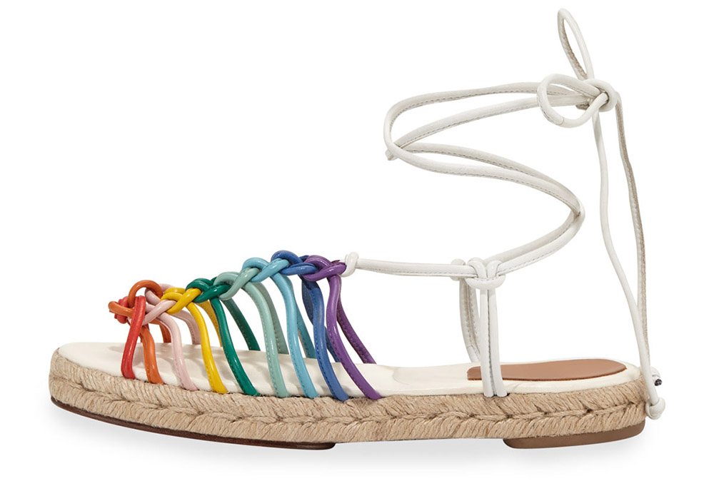 Chloe Jamie Rainbow Leather Lace-Up Sandal