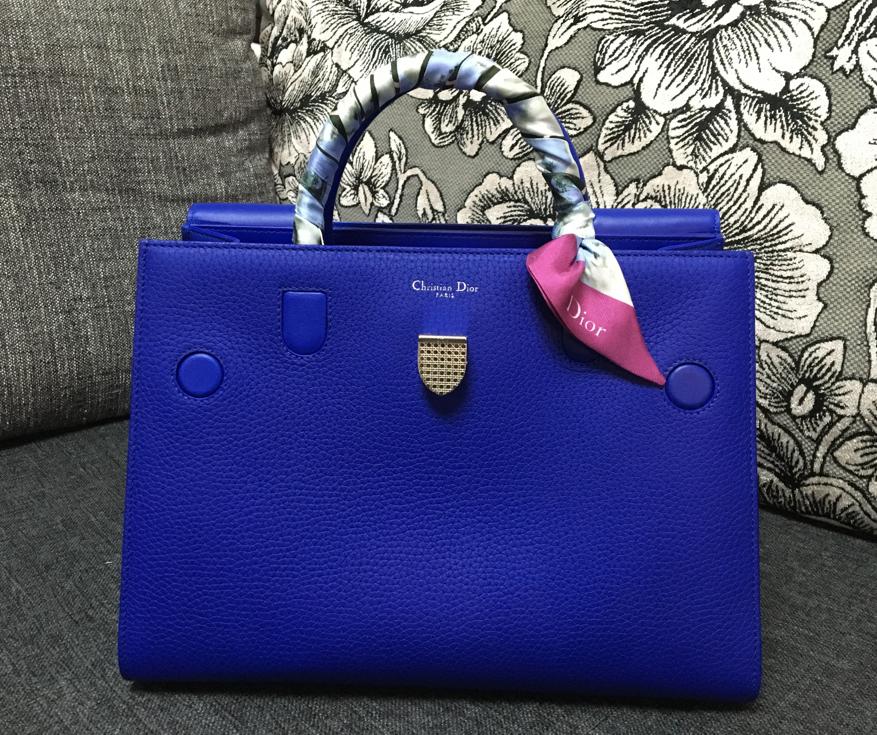 Christian-Dior-Diorever-Tote-Blue