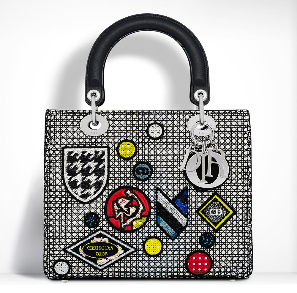 Christian-Dior-Lady-Dior-Badges-Bag