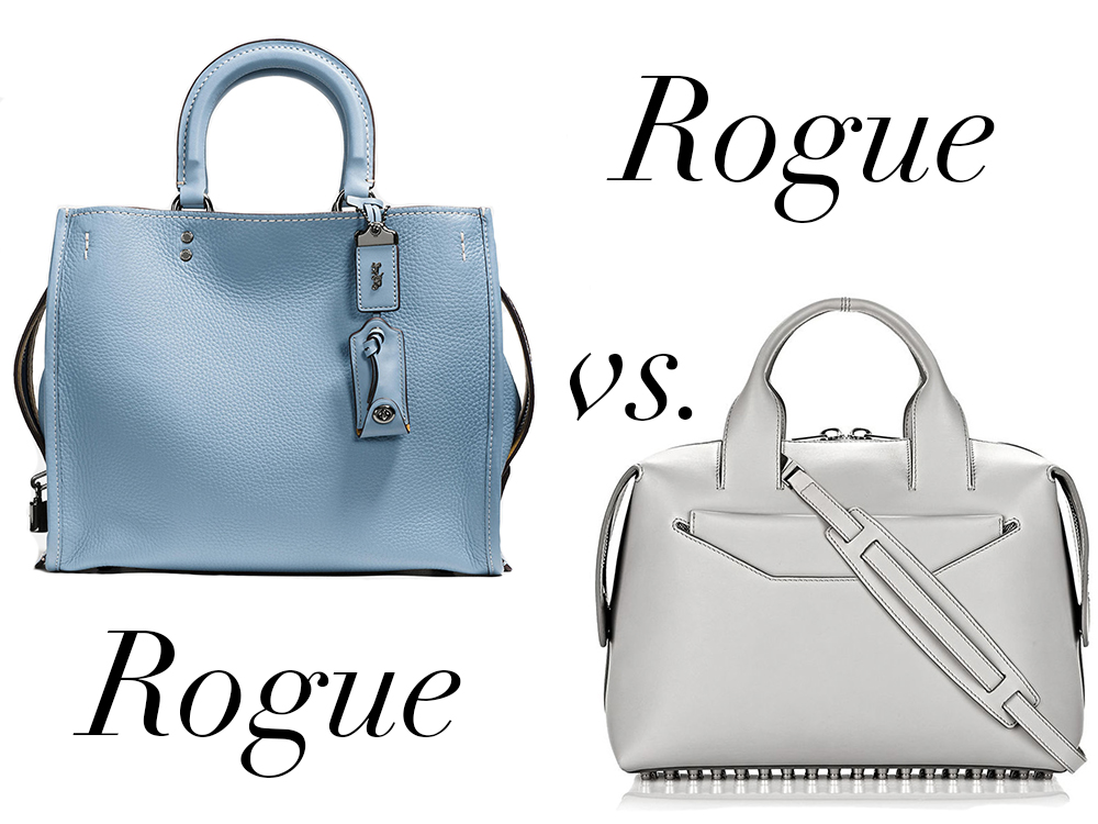 3bc44a33279 Bag Battles: The Coach Rogue Bag vs. The Alexander Wang Rogue Bag ...