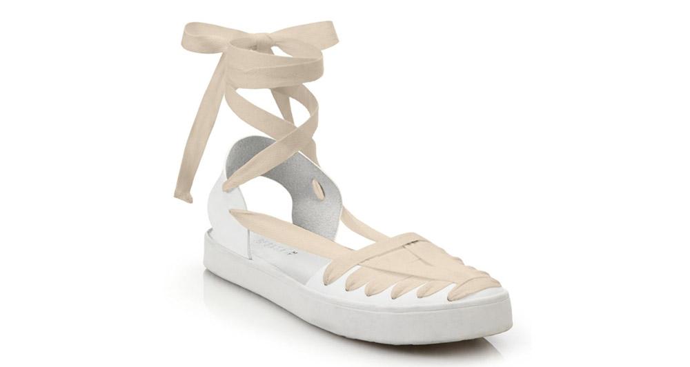 Derek Lam 10 Crosby Leon Huarache Leather Flat Sandals
