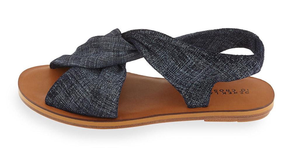 Derek Lam 10 Crosby  Pell Flat Suede Crisscross Sandal