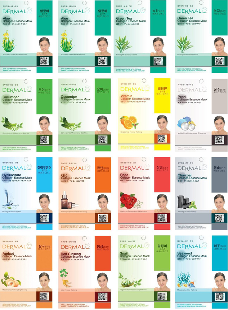 Dermal-Korea-Full-Face-Sheet-Mask-Combo-Pack