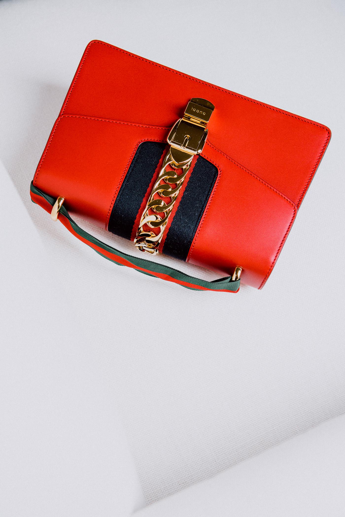 Gucci Sylvie Bag in Red, $2,490 via Gucci