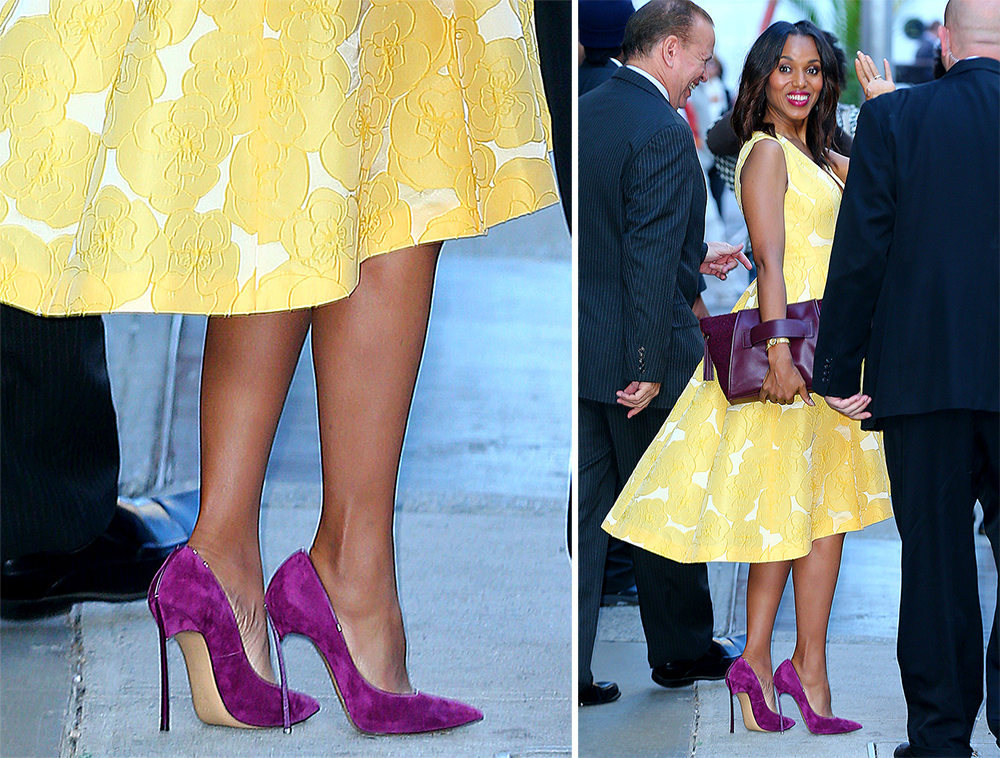 Kerry-Washington-Casadei-Blade-Suede-Pumps