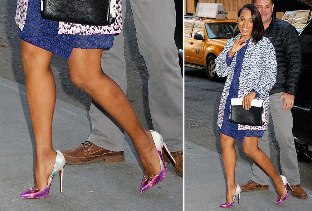Kerry-Washington-Christian-Louboutin-Pigalle-Follies-Floral-Satin-Pumps