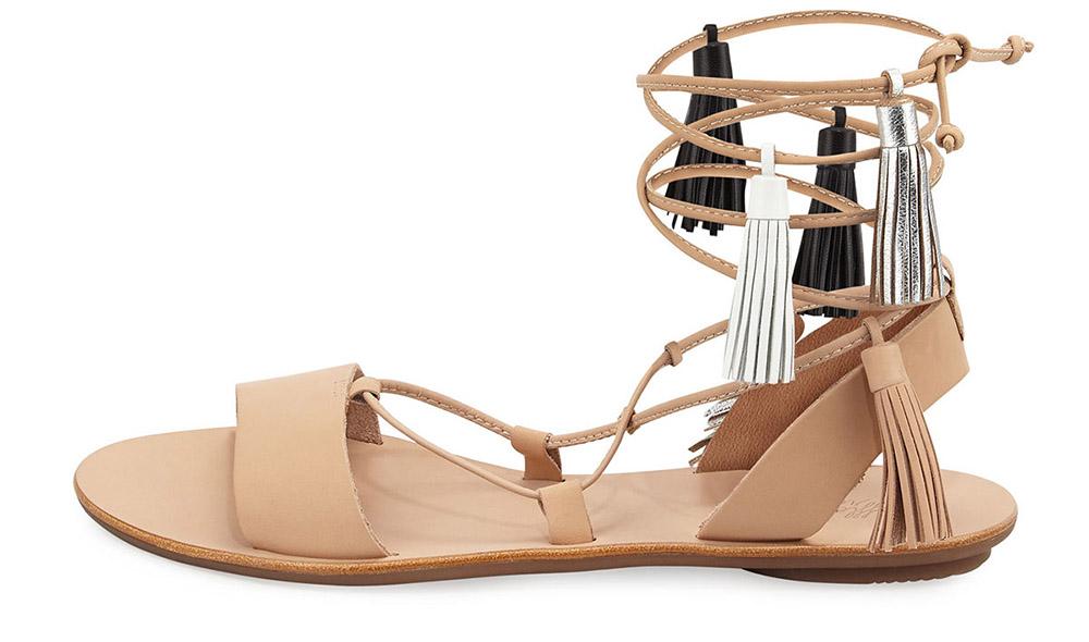 Loeffler Randall  Saskia Flat Tassel Gladiator Sandal