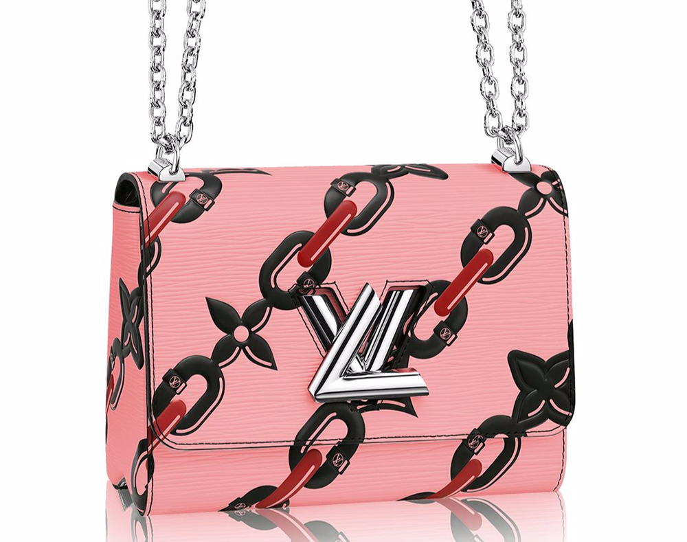 Louis-Vuitton-Chain-Flower-Twist-Shoulder-Bag